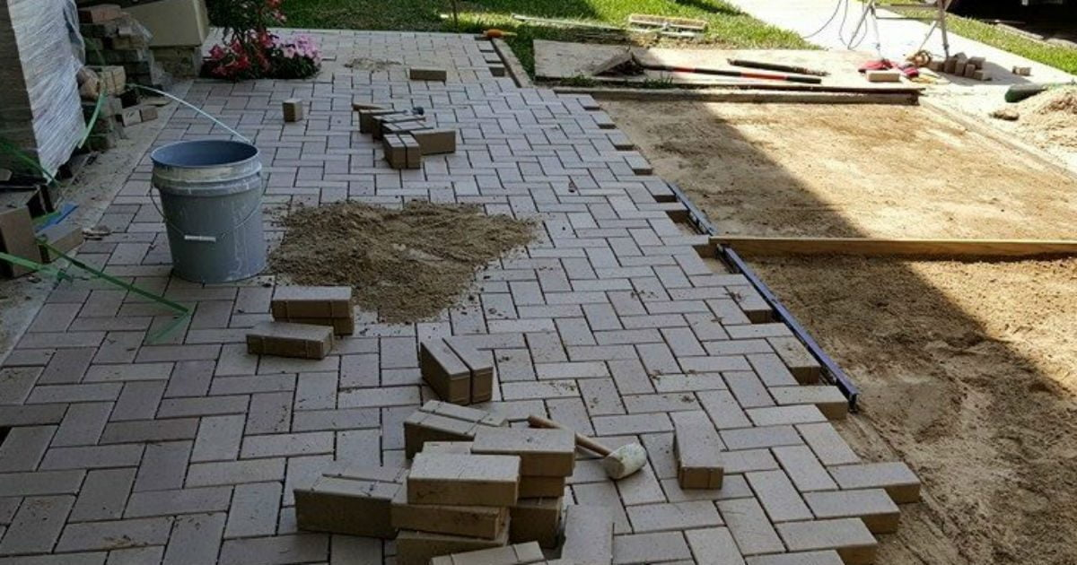 Houston Patio Renovation Construction Site Photo
